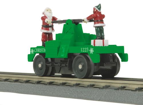 MTH RailKing O 30-5183 Operating Hand Car, Christmas