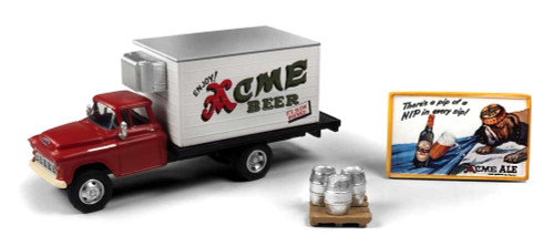 Classic Metal Works HO 40014 1955 Chevy Beer Truck with Accessories, Acme Beer