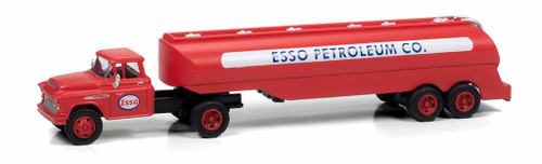 Classic Metal Works HO 31195 1957 Chevy with Tanker Trailer, Esso Petroleum