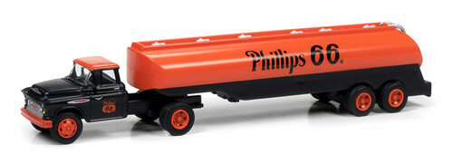Classic Metal Works HO 31196 1957 Chevy with Tanker Trailer, Phillips 66