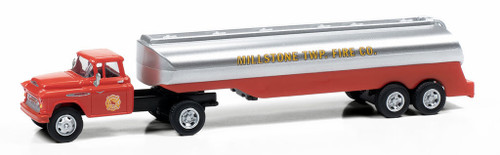 Classic Metal Works HO 31197 1957 Chevy with Tanker Trailer, Millstone Township Fire Dept.