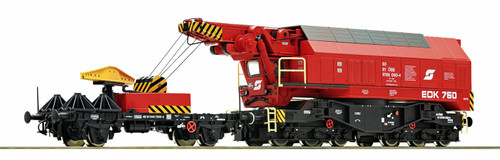 Roco HO 73036 Slewing Railway Crane, OBB (Austrian Federal Railways) with Fully Functional DCC control
