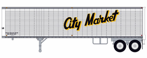 Trainworx HO 80257-01 40' Corrugated Van Trailer, City Market #1