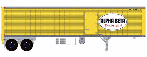 Trainworx HO 80258-02 40' Corrugated Reefer Trailer with Curb Door, Alpha Beta #2