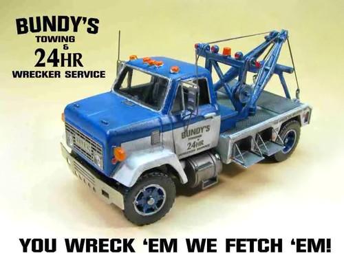 Showcase Miniatures HO 3003 1970s 9500 GMC Short Wheelbase Wrecker Kit