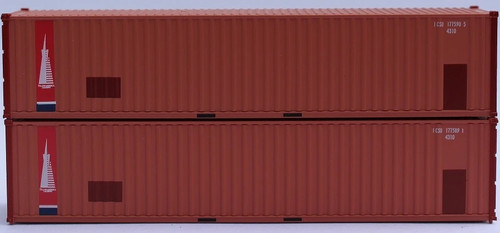 Jacksonville Terminal Company N 405510 40' Corrugated Side Containers, Transamerica (2)