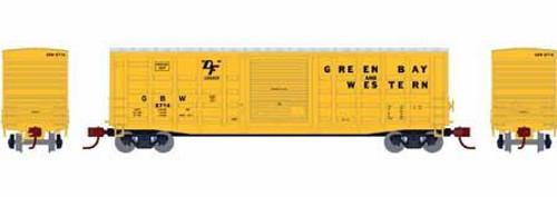 Athearn 25383 50' Waffle Side Box Car, Green Bay and Western #2728