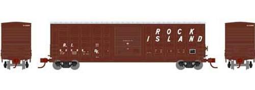 Athearn 25388 50' Waffle Side Box Car, Rock Island #36134