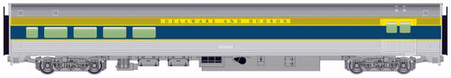 Walthers Mainline HO 910-30063 85' Budd Baggage-Lounge Car, Delaware and Hudson