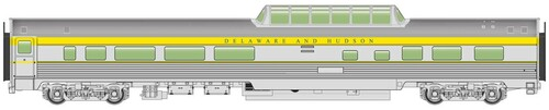Walthers Mainline HO 910-30406 85' Budd Dome Coach, Delaware and Hudson