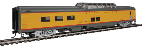 """Walthers Proto HO 920-18653 85' ACF Dome-Diner Car with Lights, Union Pacific """"City of Portland"""" #8008"""