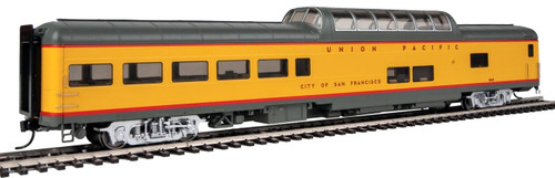 """Walthers Proto HO 920-18703 85' ACF Dome Lounge Car with Lights, Union Pacific """"City of San Francisco"""" #9009"""