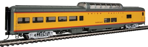 """Walthers Proto HO 920-18704 85' ACF Dome Lounge Car with Lights, Union Pacific """"Harriman"""" #9004"""