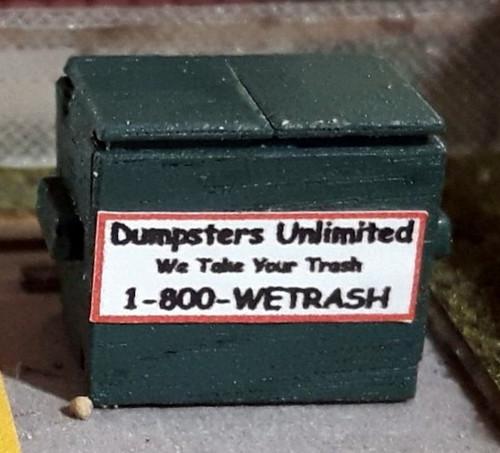 Osborn Model Kits HO 1132 Garbage Dumpster Kits (4)