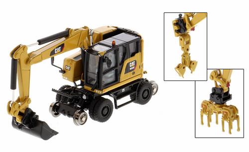 Diecast Masters HO 85656 CAT M323F Railroad Wheeled Excavator