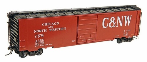 Kadee HO 6413 50' PS-1 Box Car with 8' Door, Chicago and North Western #4195