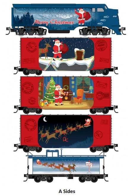 Micro-Trains N 99321340 Santa's Off-The-Rail Express Set
