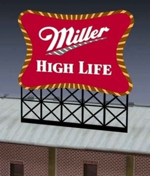 Miller Engineering HO/O 8061 Large Miller High Life, Animated Neon Sign Kit