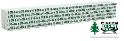 Walthers SceneMaster HO 949-3168 Wrapped Lumber Load, White River Forest Products