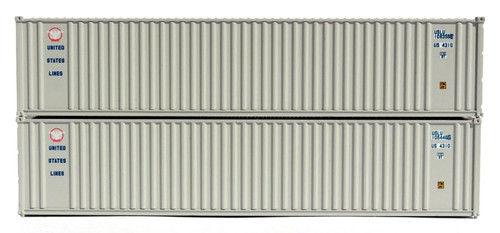 Jacksonville Terminal Company N 405507 40' Standard Height Containers, US Lines (2)