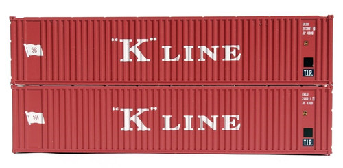 Jacksonville Terminal Company N 405571 40' Standard Height Containers, K-Line (2)