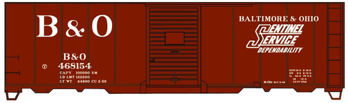 Accurail HO 81302 40' Single Door Steel Box Car Kit, Baltimore and Ohio #468154