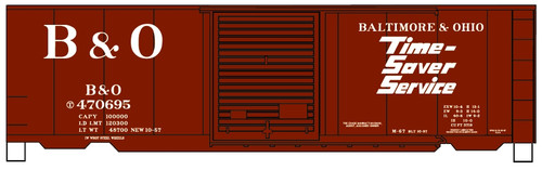 Accurail HO 81303 40' PS-1 Steel Box Car Kit, Baltimore and Ohio #470695