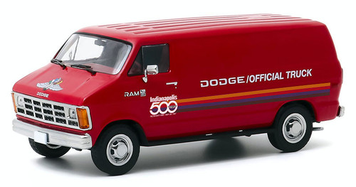 Greenlight Collectibles O 86576 1987 Dodge Ram 1500 Van, 71st Annual Indianapolis 500 Official Truck (1:43)