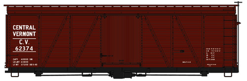 Accurail HO 1179 36' Fowler Wood Box Car Kit, Central Vermont #62374