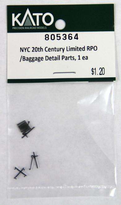 Kato N 805364 20th Century Baggage/RPO Detail Parts