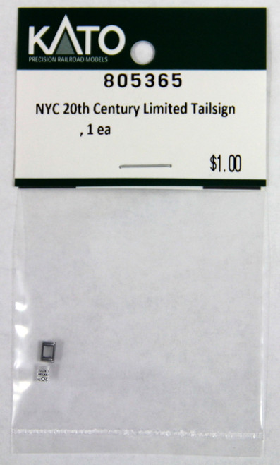 Kato N 805365 20th Century Limited Tailsign