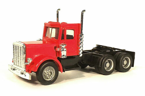 Herpa HO 015233 Short Peterbilt Tractor, Red