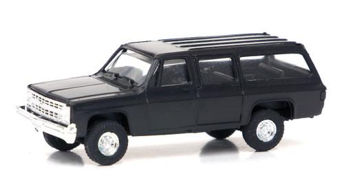 Trident Miniatures HO 90014S Chevy Suburban 4x4, Black