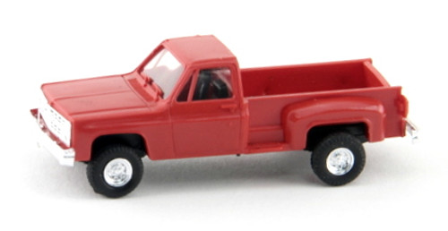 Trident Miniatures HO 900151 GMC Step-Side Pick-Up 4x4, Red
