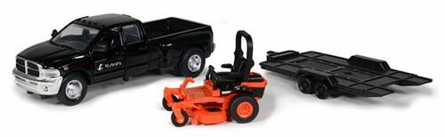 New Ray Toys O 34243 Dodge Ram Pickup Truck with Kubota Z700 Lawn Mower (1:43)