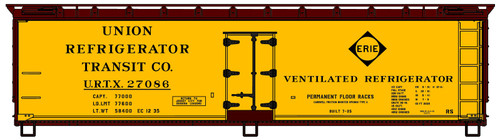 Accurail HO 4858 40' Wood Reefer Kit, Erie (URTX) #27086