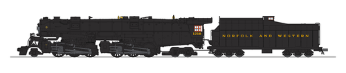 Broadway Limited Imports HO 5990 Class A 2-6-6-4 Steam Locomotive, Norfolk and Western (In Service Version) #1218