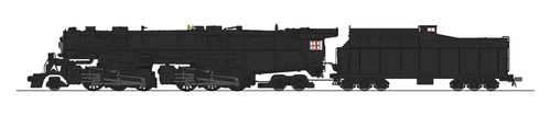 Broadway Limited Imports HO 5994 Class A 2-6-6-4 Steam Locomotive, Unlettered