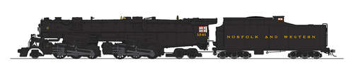 Broadway Limited Imports HO 5996 Class A 2-6-6-4 Steam Locomotive, Norfolk and Western #1241