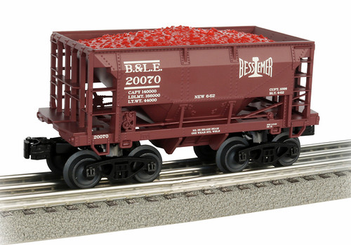 Williams By Bachmann O 48502 70-Ton Ore Car, Bessemer and Lake Erie #20070
