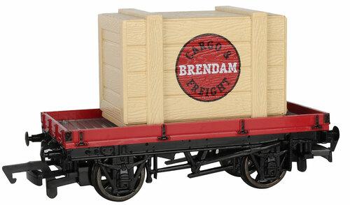 Bachmann HO 77402 1-Plank Wagon with Brendam Crate (Thomas & Friends)