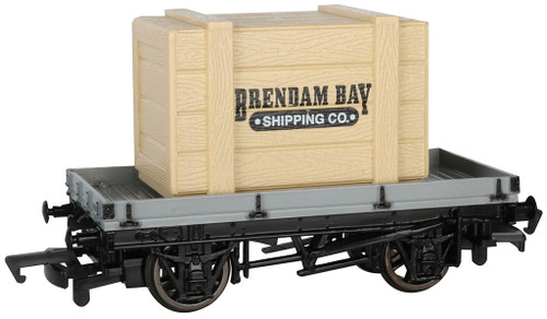 Bachmann HO 77403 1-Plank Wagon with Brendam Bay Crate (Thomas & Friends)