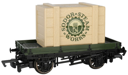 Bachmann HO 77404 1-Plank Wagon with Sodor Steam Crate (Thomas & Friends)