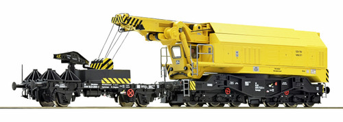 Roco HO 73035 Slewing Railway Crane, DB (Deutsche Bundesbahn)  with Fully Functional DCC control