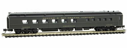 "Micro-Trains N 14600390 80' Heavyweight Diner Car, Denver and Rio Grande Western ""Pike's Peak"""