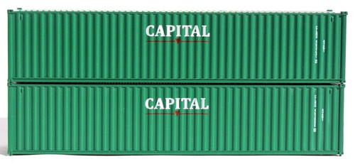 Jacksonville Terminal Company N 405335 40' Standard Height Containers with Magnetic System, Capital (2)