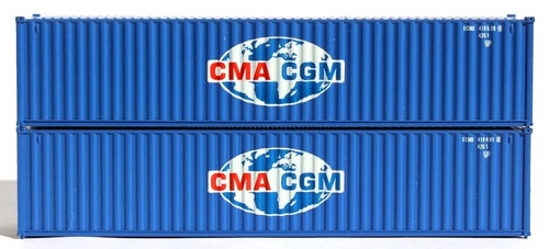 Jacksonville Terminal Company N 405305 40' Standard Height Containers with Magnetic System, CMA/CGM (2)