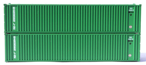 Jacksonville Terminal Company N 405554 40' Standard Height 2-P-44-P-2 Containers with Magnetic System, Evergreen (2)