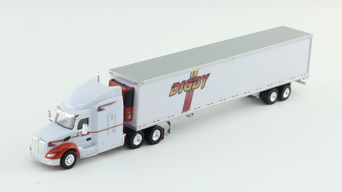 Trucks N Stuff HO 400637 Peterbilt 579 Tractor with 53' Reefer Trailer, Digby