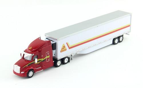 Trucks N Stuff HO 400646 Peterbilt 579 Tractor with 53' Reefer Trailer, Decker